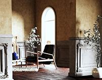 classic style interior visualization