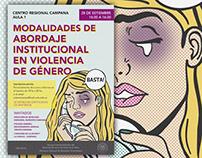 Afiches para charlas sobre violencia de género