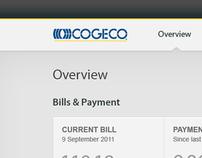 Cogeco Web Self Care Dashboard