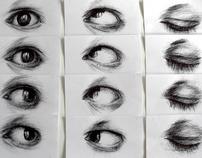 Oeil noir, dessin animation