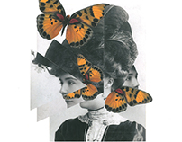 Portrait with butterfly