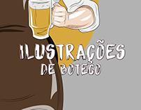 Ilustrações de Boteco
