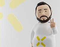 Hostarex.com | 3D mascot design