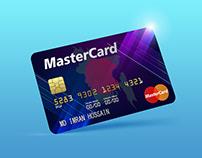 Free Master Card PSD Mockup