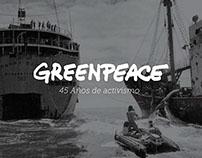 Greenpeace — 45 años de activismo