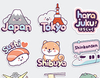 Japan GIF stickers for Instagram Stories