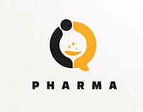 """""""iQ PHARMA"""" logo"""