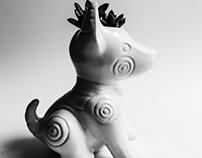 Mexican dog ceramic plant pot