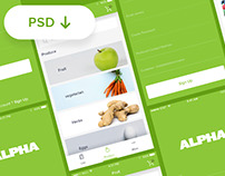Alpha Fruit apps - PSD