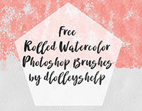 FREE ROLLED WATERCOLOR PHOTOSHOP BRUSHES