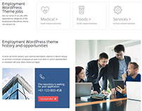 Home Page About Section - Employment WordPress Theme