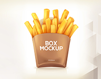 Free Potato Fries Box Mockup Psd Download