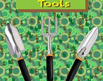 Gardening Tools (Gradient Mesh)
