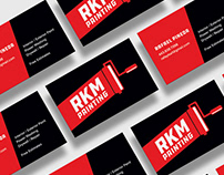 RKM Painting Logo / Business cards
