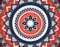 Mandala - Aztec art