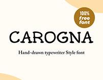 Carogna Free Font