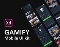 GAMIFY - Adobe XD mobile UI kit