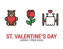 St. Valentine's Day - Icon Set