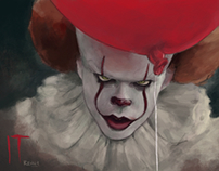 Pennywise .... serious and evil!!