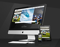 Web Design - sport stock photos website