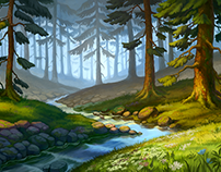 Backgrounds for Klondike game