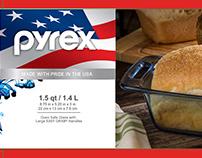 Pyrex Atlantic Blue 1.5qt Loaf Dish
