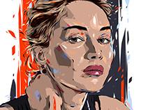 Adobe DRAW : Digital painting - Jennifer Lawrence