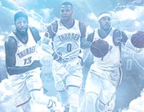 Oklahoma City Thunder NBA Social Media Design