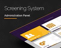 Admin Panel // Screening System