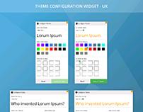 Theme Configuration UX