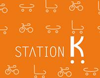 STATION K/ branding + icon