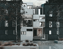 3nd prize-Young Architects' Competition The Block House