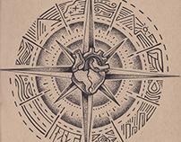 CORAZÓN Y BRÚJULA / Illustration