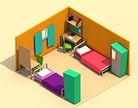 College bedroom.