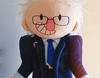 Stuffed Bernie Sanders doll!