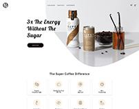 Super Coffee Landing Page