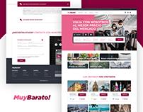 "MuyBarato!   Landing Page ""Book Cheap Flights"""
