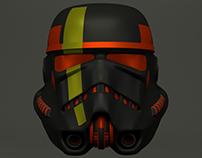 Storm Trooper Helmet Concept - Maya 3D
