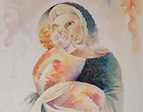 Mother, watercolor