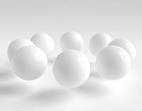 Elegant floating minimal Sphere - Seamless Loop -