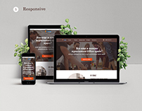 Co-working center Landing page