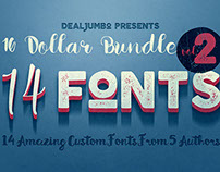 10 Dollar Bundle vol.2 – 14 Fonts!