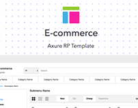 Axure template / E-commerce by Axemplate