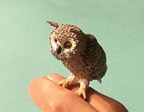 Indian Eagle Owl Paper Sculpture