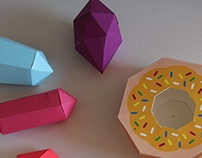 3D Paper/Felt Foods/Shapes