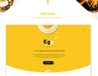 egg - Product landing page