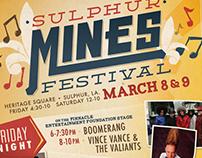 Sulphur Mines Festival | Poster & Billboard Design