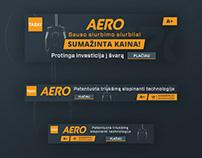 """""""TASKI Aero"""" Banner'iai"""