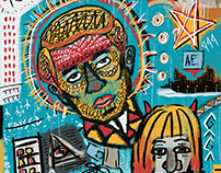 Basquiat Style Tribute