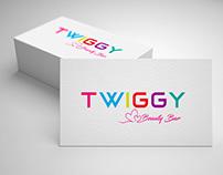 Twiggy Beauty Bar logotype design
